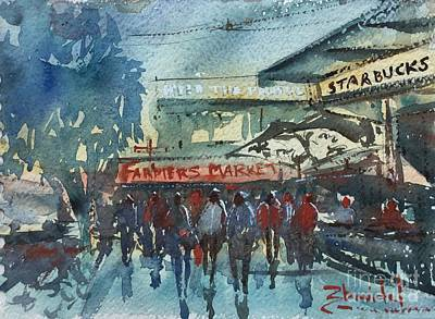 Starbucks Seattle Original by Carolyn Zbavitel