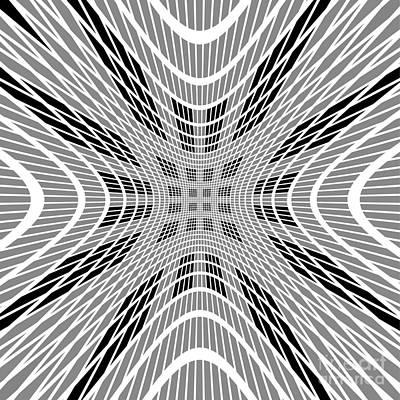 Digital Art - Starburst Black And White Op Art  by Aapshop