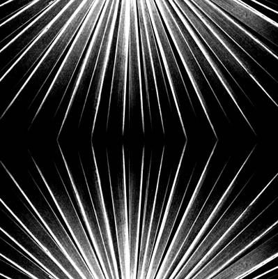 Digital Art - Starburst In Black And White by Michelle Calkins