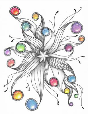 Drawing - Starburst by Jan Steinle