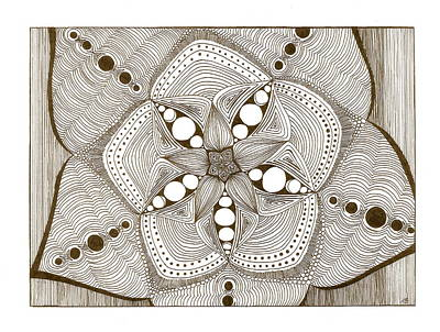 Drawing - Starburst by Michele Bullock