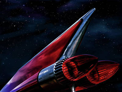 Automotive Digital Art - Stardate 1959 by Douglas Pittman