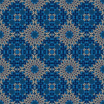 Digital Art - Stardrop Diamond Blue by Deborah Runham