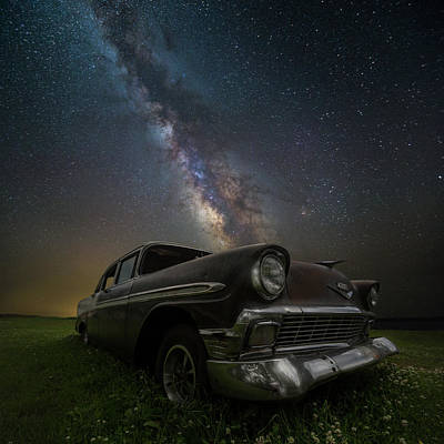 Stardust And Rust Chevy Art Print by Aaron J Groen