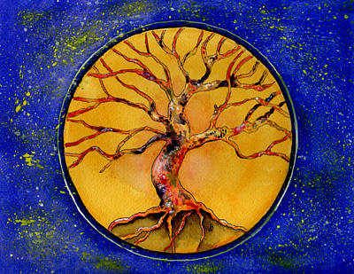 Painting - Stardust Tree by Brenda Owen