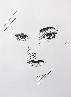Suggestive Drawing - Stare by Meyghan Danelle