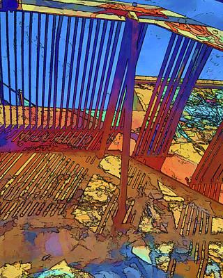 Digital Art - Stare Stair by Brian Brandt