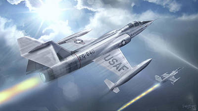 Digital Art - Starfighter F-104 by James Vaughan