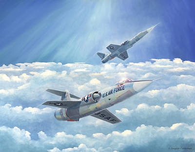 Painting - Starfighters by Douglas Castleman