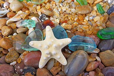 Photograph - Starfish Art Prints Star Fish Seaglass Sea Glass by Baslee Troutman Art Prints