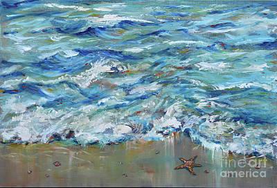 Painting - Starfish At The Edge by Linda Olsen