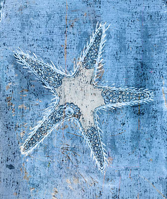 Hand Made Painting - Starfish by Frank Tschakert
