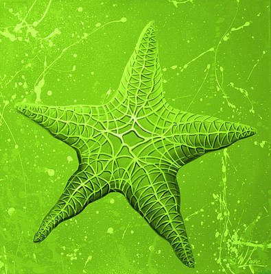 Painting - Starfish In Green by William Love