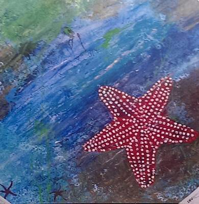 Painting - Starfish by Judi Goodwin