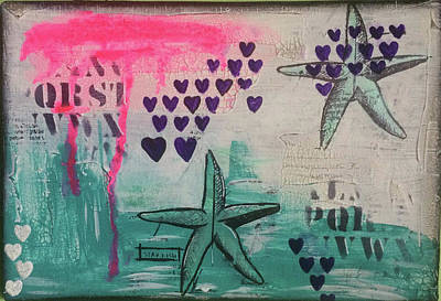 Painting - Starfish Love by Kv