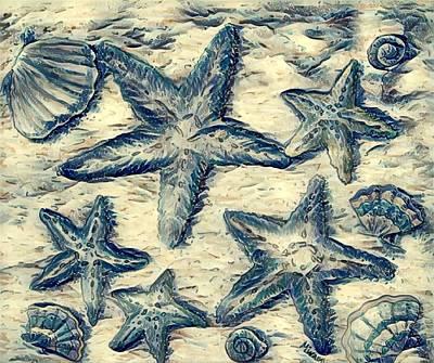Digital Art - Starfish  by Megan Walsh