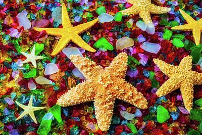 Sea Glass Photograph - Starfish On Sea Glass by Garry Gay