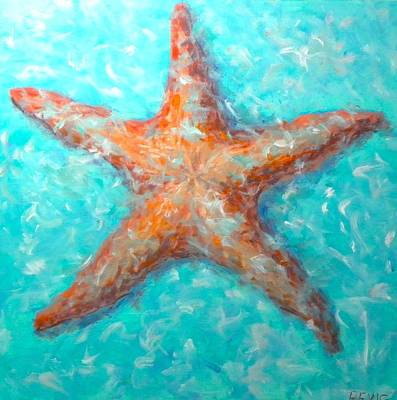 Painting - Starfish- Original For Sale Too by Paul Emig
