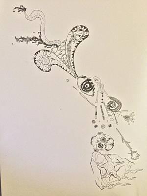 Starfishcalavera Dragon Art Print