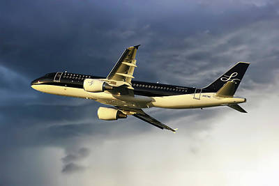 Starflyer Airbus A320-214 Art Print