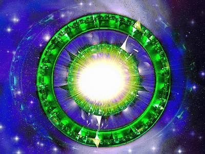 Digital Art - Stargate Explosion by Mario Carini