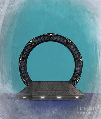 Science Fiction Royalty-Free and Rights-Managed Images - Stargate by Raphael Terra