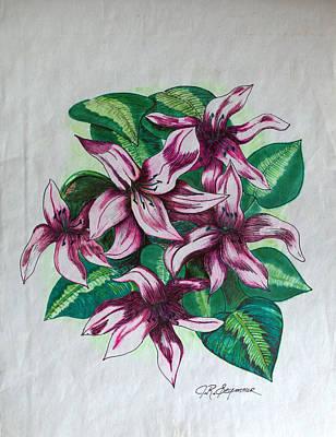 Stargazers Blooming Art Print by J R Seymour