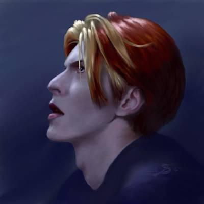 Digital Art - Stargazing - David Bowie by Dana Scholle
