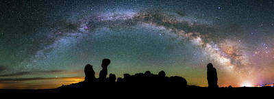 Photograph - Stargazing Family by Darren White