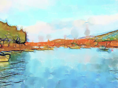 Lucent Dreaming Painting - Stari Grad I by Nick Arte