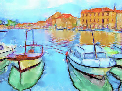 Lucent Dreaming Painting - Stari Grad Iv by Nick Arte