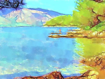 Lucent Dreaming Painting - Stari Grad - On The Beach V by Nick Arte
