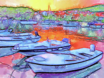 Lucent Dreaming Painting - Stari Grad Viii by Nick Arte