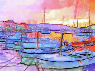 Lucent Dreaming Painting - Stari Grad Xi by Nick Arte