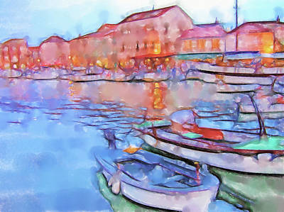 Lucent Dreaming Painting - Stari Grad Xii by Nick Arte