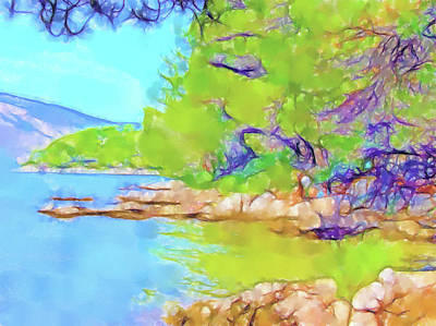 Lucent Dreaming Painting - Stari Grad Xiv by Nick Arte