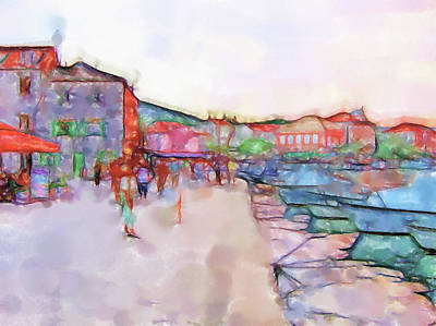 Lucent Dreaming Painting - Stari Grad Xviii by Nick Arte