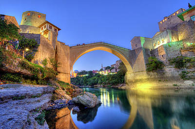 Mostar Photograph - Stari Most, Old Bridge, Mostar, Bosnia And Herzegovina by Elenarts - Elena Duvernay photo