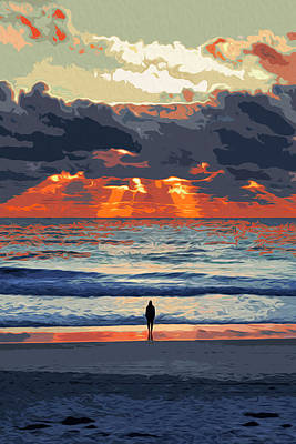 Painting - Staring At The Ocean by Andrea Mazzocchetti