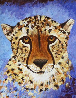 Painting - Staring Cheetah by Margaret Saheed