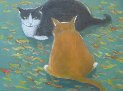 Staring Contest  Art Print