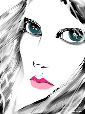 Digital Art - Staring by Frances Ku