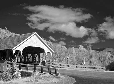 Abstract Male Faces - Stark Covered Bridge by James Walsh