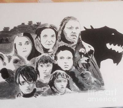 Painting - Stark Family by Audrey Pollitt