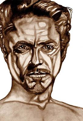 Robert Downey Jr Drawing Drawing - Stark Naked-iron Man by Herbert Renard