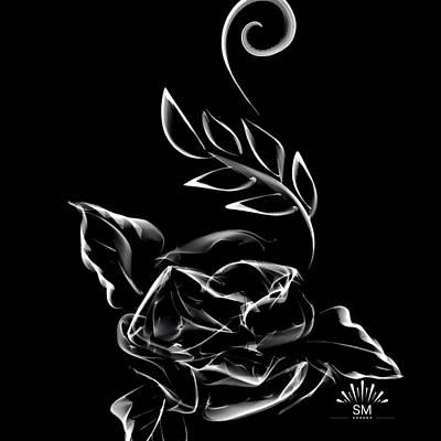 Painting - Stark Silk Art by Sheila Mcdonald