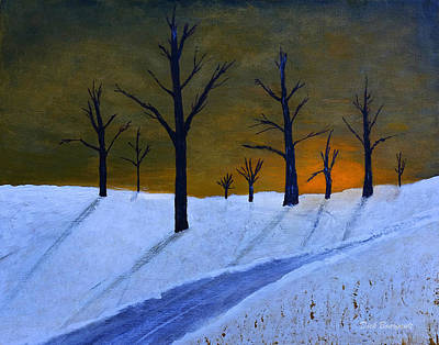 Stark Winter Sunset Art Print