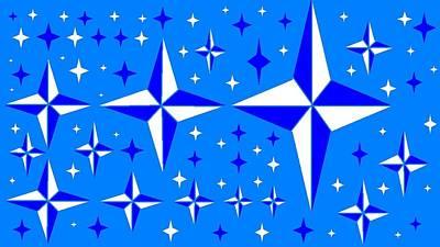 Starlight 9 Art Print by Linda Velasquez