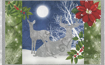 Silver Moonlight Painting - Starlight Christmas Ix by Mindy Sommers