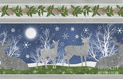 Silver Moonlight Painting - Starlight Christmas Xii by Mindy Sommers